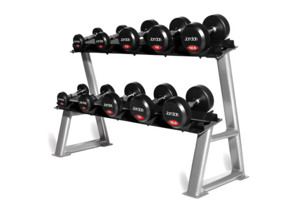 2 tier 5 pairs dumbbell rack