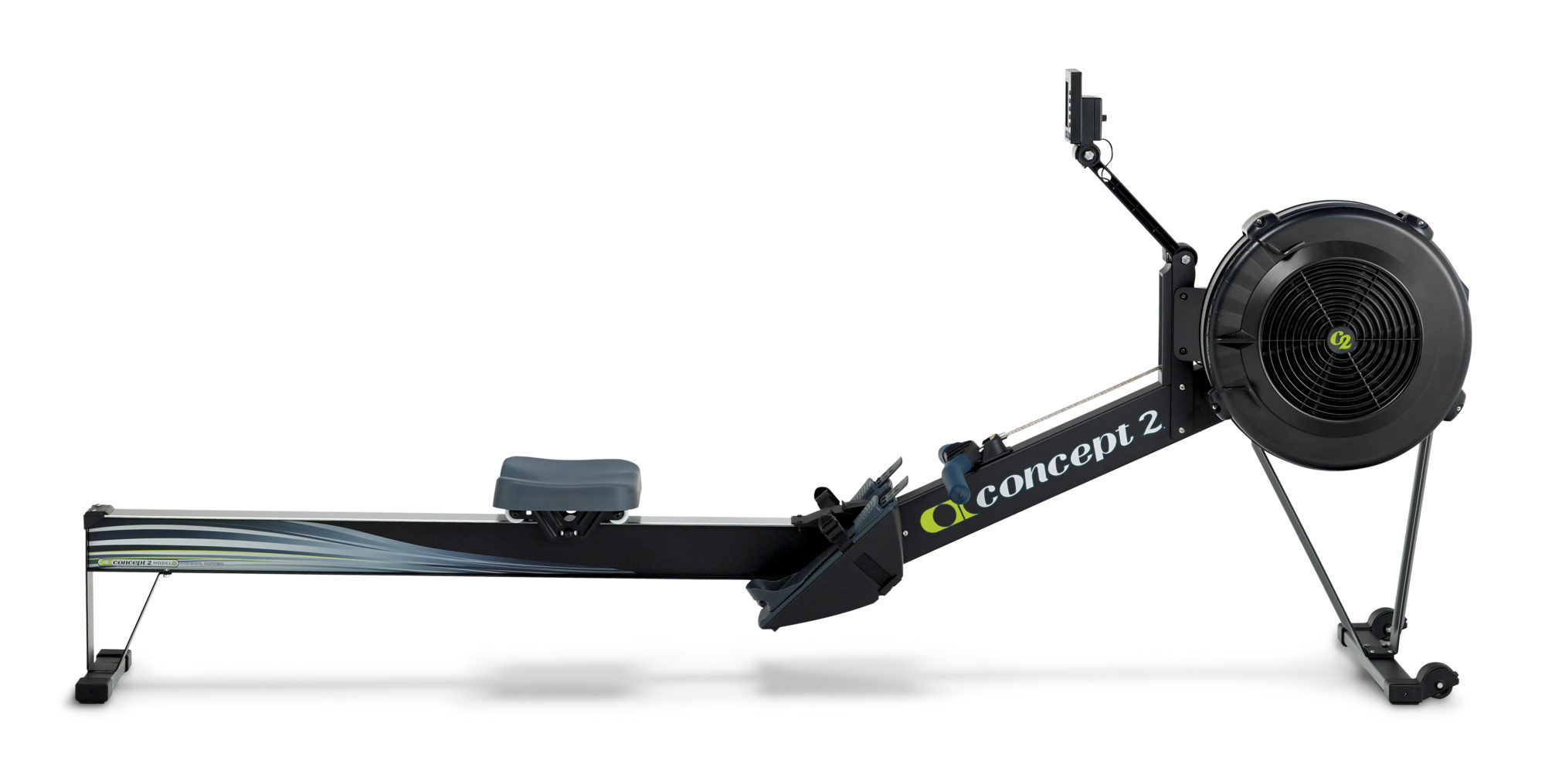 concept 2 Rower MODEL_D_BLACK_PROFILE