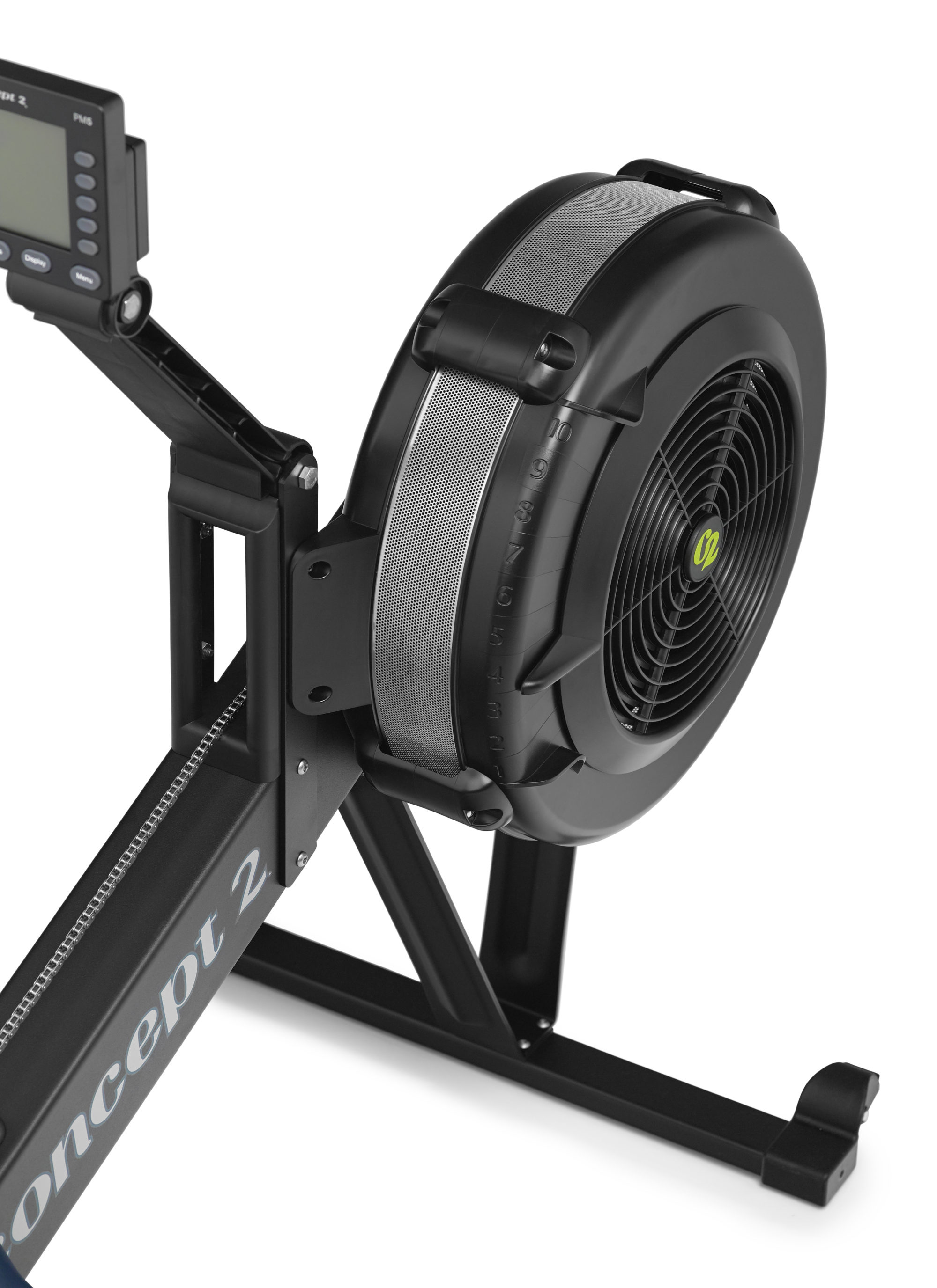 concept 2 rower MODEL_D_BLACK_FLYWHEEL