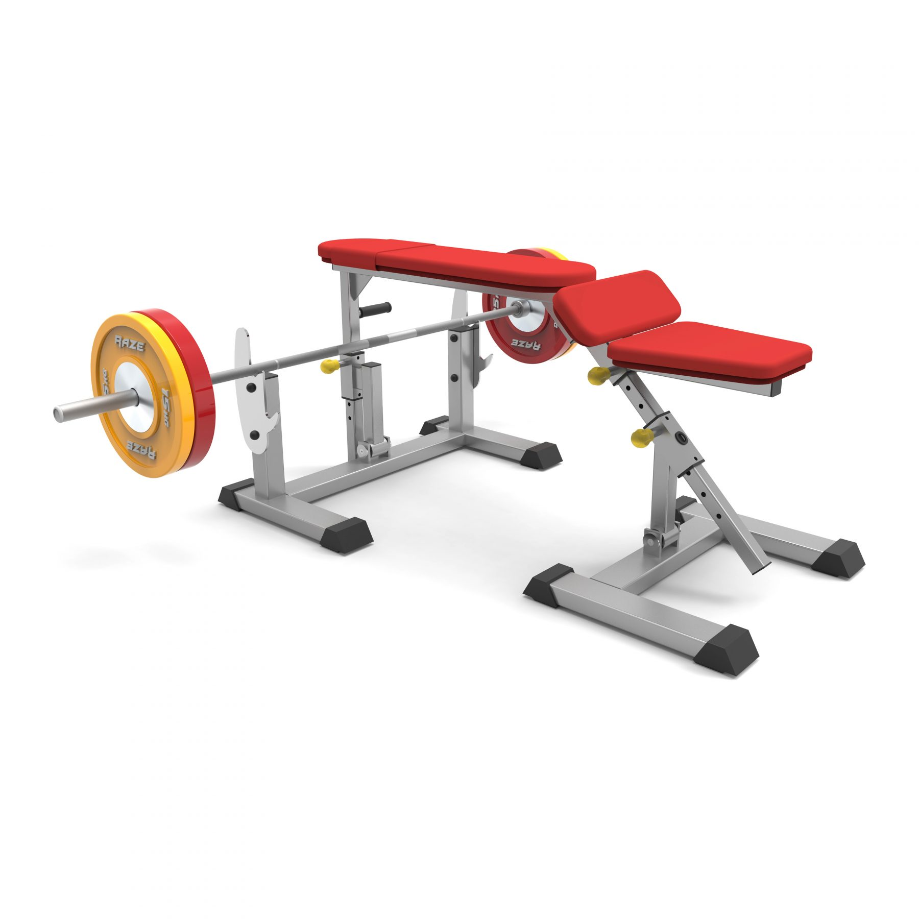 adjustable prone row bench PB725