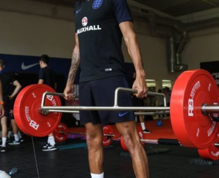 England Team Working Hard on Their Fitness