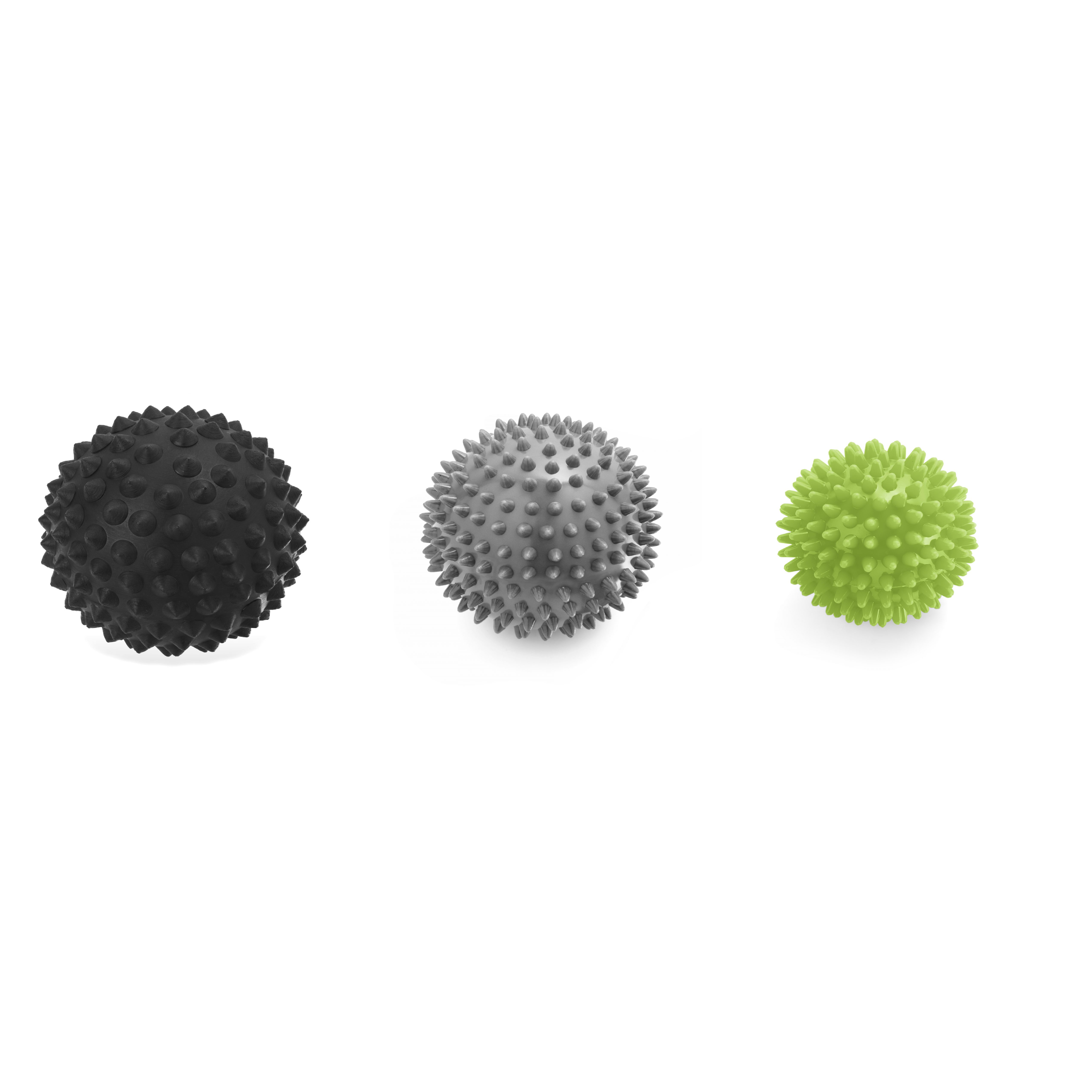3 spikey massage balls